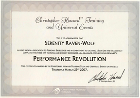 2007: Performance Revolution | wih Christoher Howard Training
