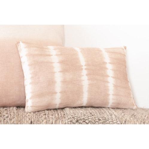 Pink Tye Dye Linen Pillow