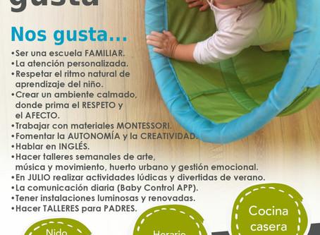 Venid a conocer la Escuela Infantil Montessori.