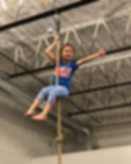 Little girl on rope