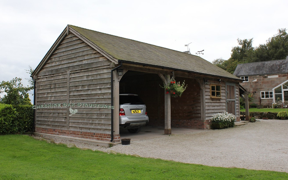 luxury oak garage after time