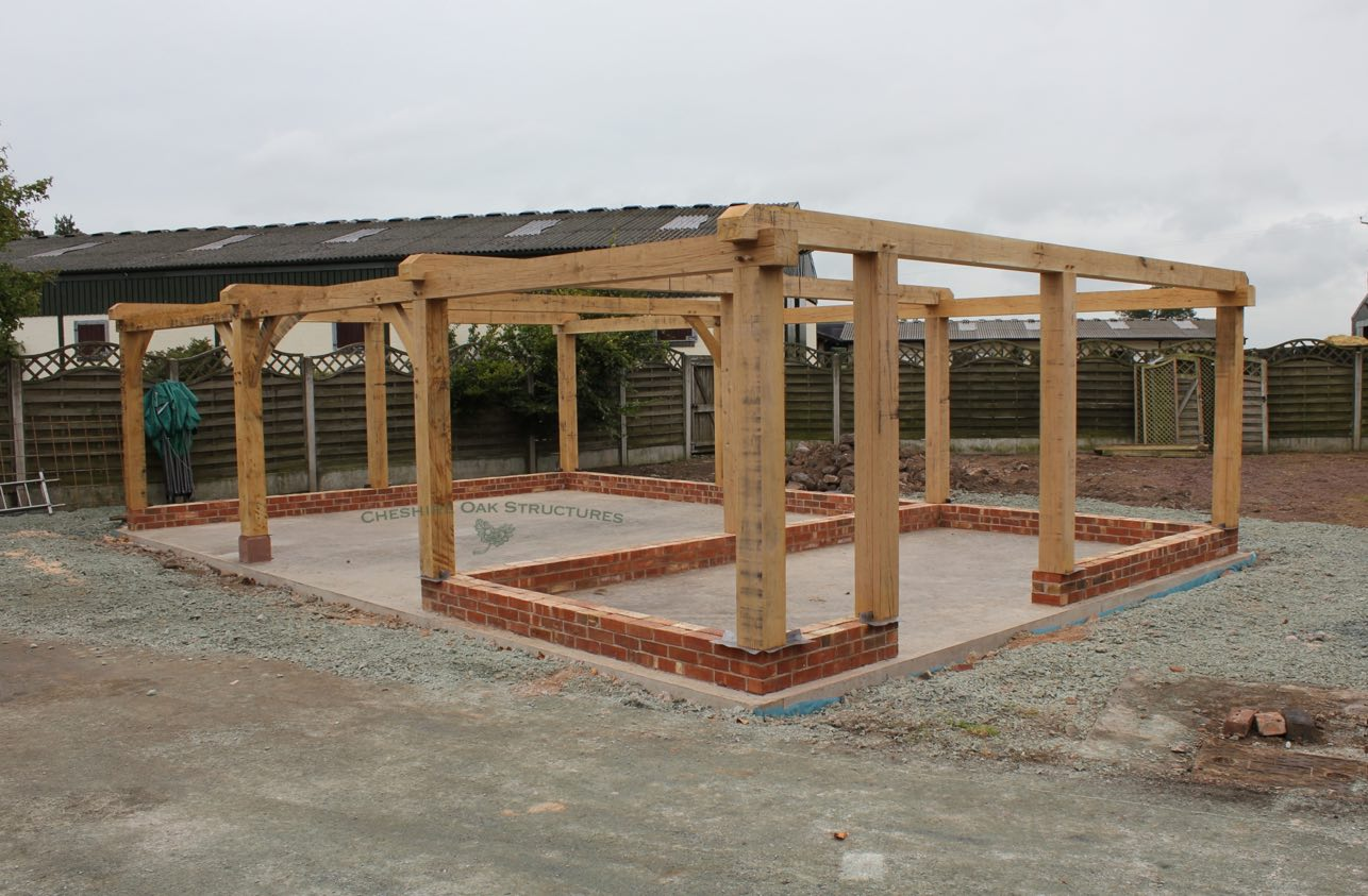 Oak_Frame_Garage_3_Bay_Frame