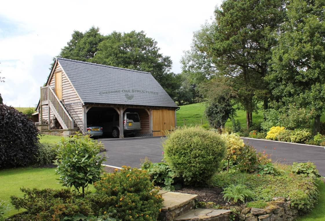 OakGaragewithUpstairsAccommodationAlternativeViewShropshire