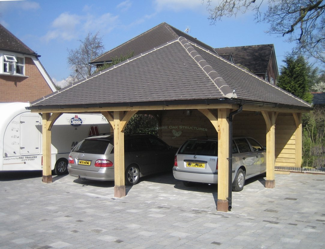 2_Car_Oak_Carport_Cheshire