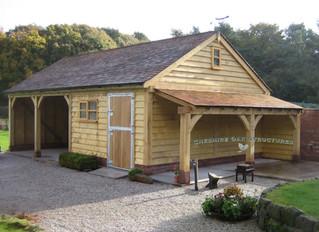 What will my oak garage look like in a few years time?
