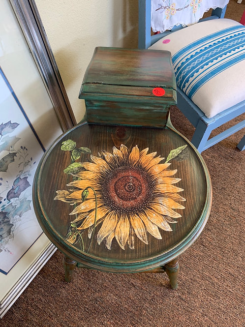 Sunflower Antique End Table
