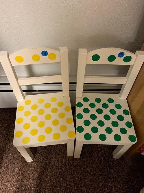 Children's Polka Dot Chairs