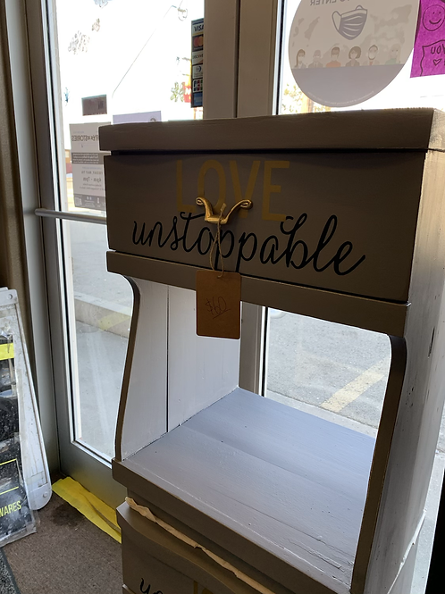 """""""Love Unstoppable"""" End Table"""