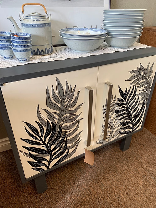 Hand-painted Wooden Cabinet