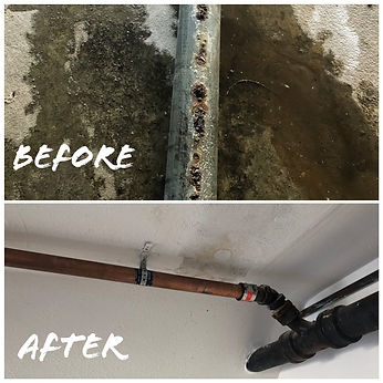 Replace galvanized pipes to copper