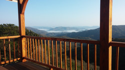 Early morning on the deck