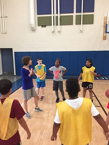 Summer Camp instructing with older group