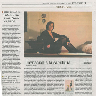 El Mundo, Interview about El Tao, un cam
