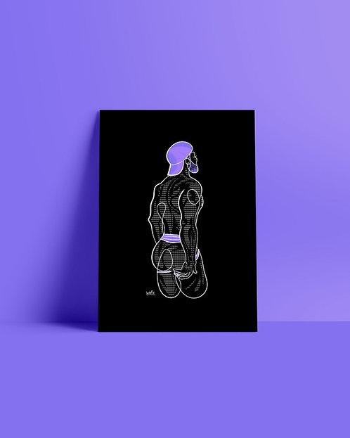 lonniedraws x salxtx gallery art print