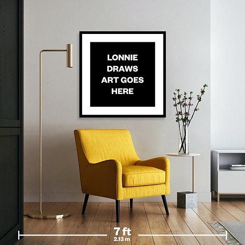 "Framed Gallery Artwork 32"" x 32"" (81.28 x 81.28 cm) with Black Frame"