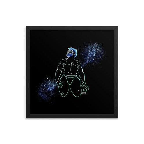 lonniedraws x quinzayy framed gallery art print