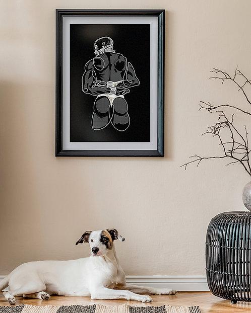 lonniedraws x judas king v2 framed gallery art print
