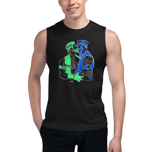 lonniedraws x david & rob muscle shirt