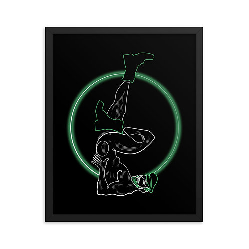 lonniedraws x lonnie tapia pin-up framed gallery art print