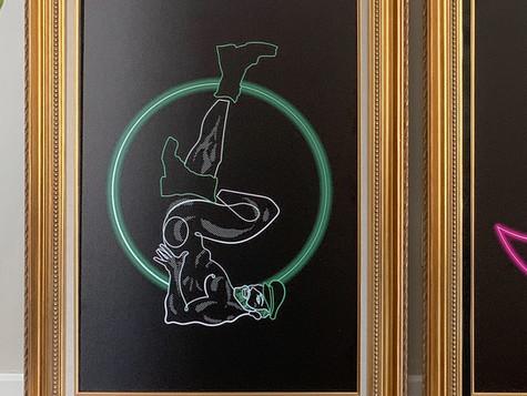 Lonnie Draws, a self-portrait