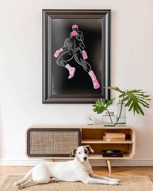 lonniedraws x bryan jmnz x daddy summers framed gallery art print