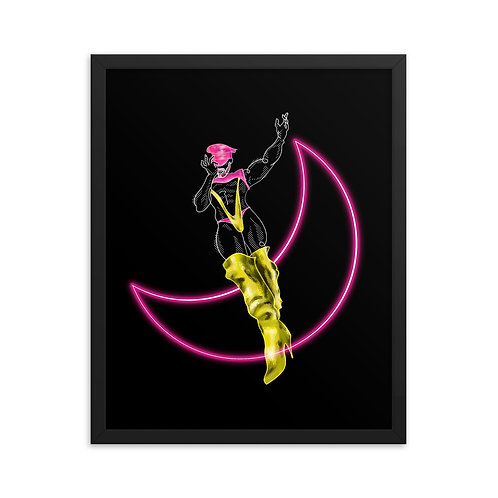 lonniedraws x jessie colter framed gallery art print