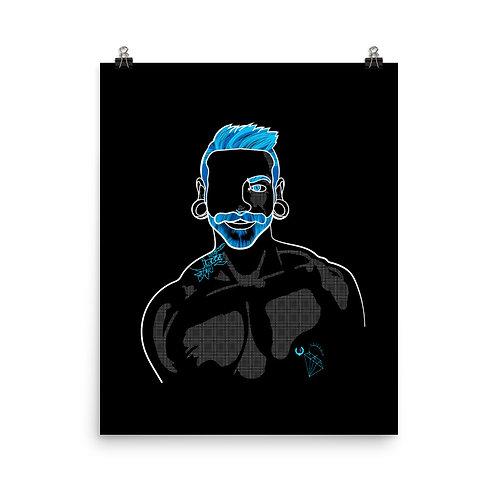 lonniedraws x cristóbal gallery art print