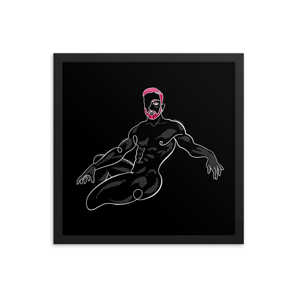 lonniedraws x reko evans framed gallery print