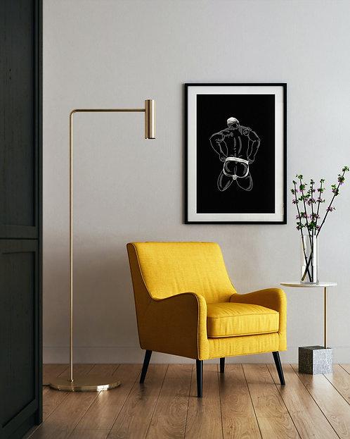 lonniedraws x patrick millk framed gallery art print
