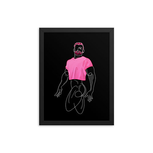 lonniedraws x aarin asker framed gallery art print