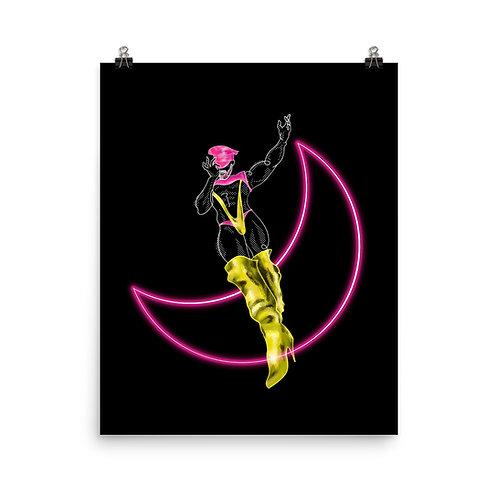 lonniedraws x jessie colter gallery art print