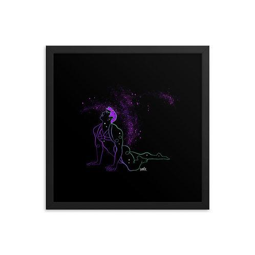 lonniedraws x rj aguiar framed gallery art print