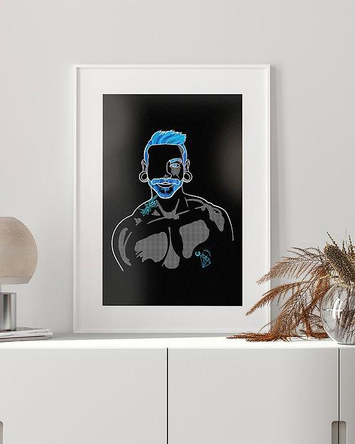 lonniedraws x cristóbal framed gallery art print