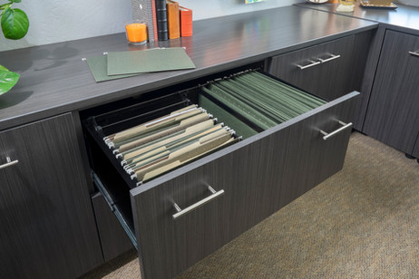 Licorice Office File Drawer-Flat Panel