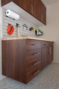 Coco Workbench with Butcher Block Counter