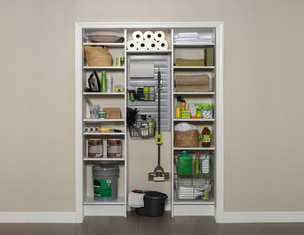 White Utility Closet