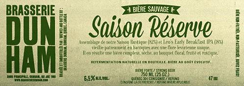 Saison Réserve - 6,5 alc./vol. - 750 ml