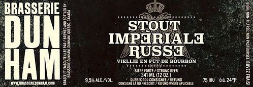 Stout Impériale russe Bourbon - 9% alc/vol. - 341 ml