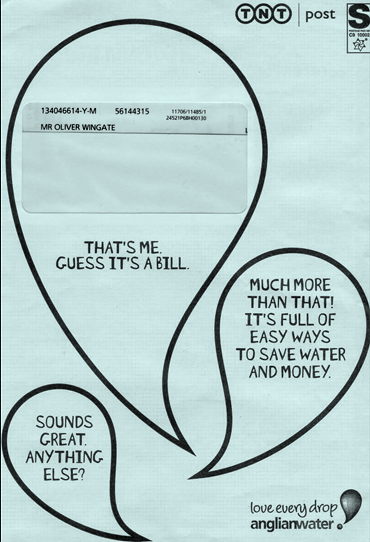 That's me. Guess it's a bill. Much more than that! It's full of easy ways to save water and money. Sounds great, anything else?