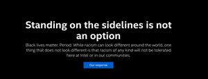 black lives matter statement from Intel