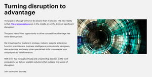 article about disruption from accenture