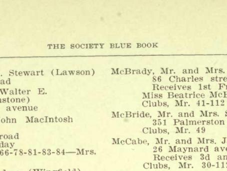 Society Blue Books