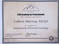 Forensic Genealogy Institute Certificate