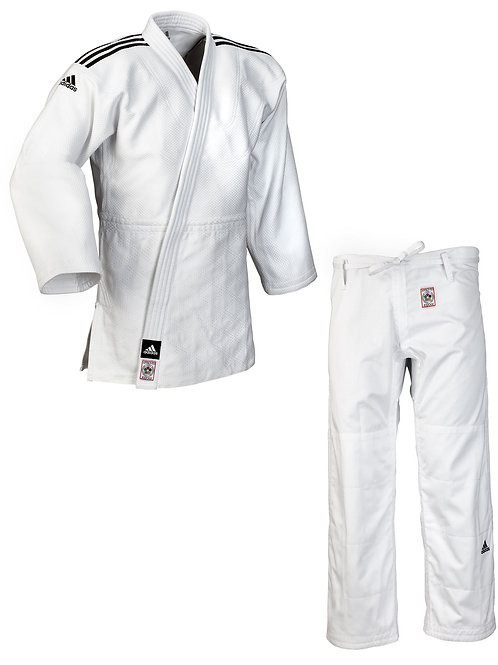 "ADIDAS Judo Gi ""Champion 2"" White - IJF APPROVED"