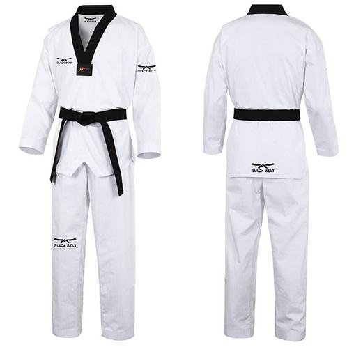 """Fighter"" Taekwondo Uniform - Black Belt"