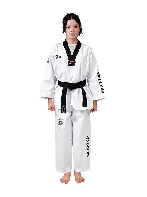 "Uniform W.T.F. ""Seoul"" Style Dobok Black Collar"