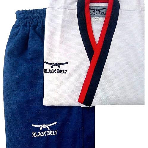 "Poomsae Male ""Poom"" Uniform - Black Belt"