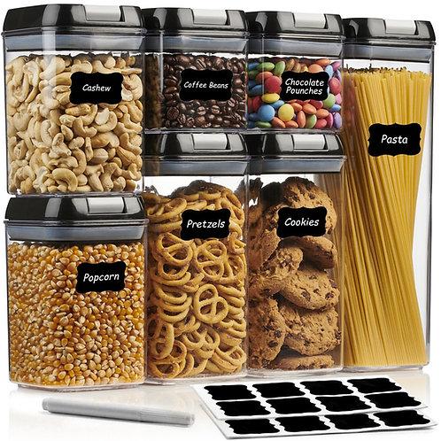 A&S KITCHEN Airtight Food Storage Container Set - 7 Piece Set