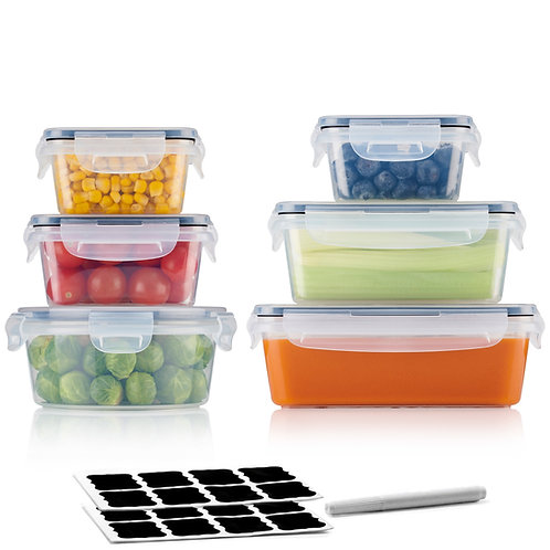 A&S KITCHEN Food Storage Container Set - 6 Piece Set