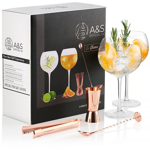 A&S HOME Gin Glasses Set